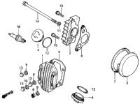 1986 honda trx70 a oem parts babbitts honda partshouse cylinder head cover