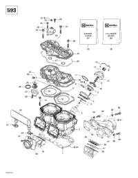 >Cylinder, Exhaust Manifold (593)
