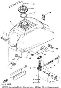1986 yamaha moto 4 yfm200dxs oem parts ronnie 39 s mail order for Yamaha sun classic parts