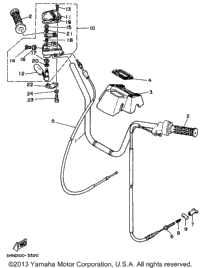 >Steering Handle - Cable