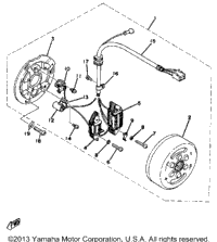 Wiring Diagram Yamaha Dt250 together with 1987 Yamaha Motorcycle Models furthermore Splitting Old Briggs And Stratton Carburetors as well Partslist together with 12 Volt Wiring Diagram For Ford 9n. on motorcycle magneto diagram