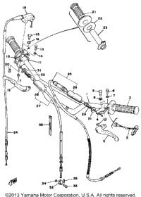 1979 yamaha yz400f oem parts babbitts yamaha partshouse handle wire
