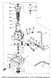 >Carburetor Yz80g