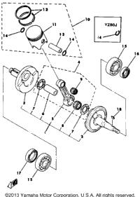 >Crankshaft Piston Yz80h J