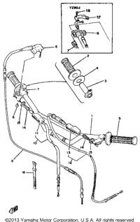 >Handlebar Cable Yz80h J