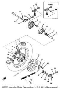 >Rear Wheel Yz80g H J