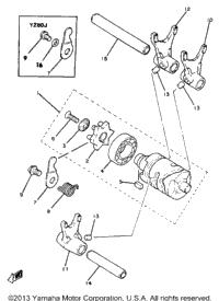>Shift Cam Fork Yz80h J