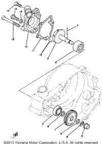 >Water Pump Yz80j
