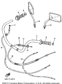 >Handlebar Cable Xv1000n Nc