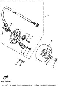 1986 yamaha yz490s oem parts babbitts online for Yamaha sun classic parts
