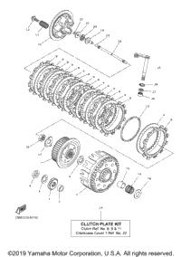 2015 yamaha yz250f yz250ffw oem parts babbitts yamaha partshouse clutch