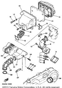 1986 yamaha riva 80 cv80s oem parts babbitts online for Yamaha sun classic parts