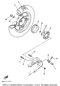 Yamaha Razz Rear Wheel Removal