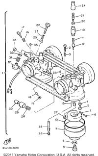 yamaha phazer carburetor diagram