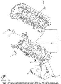 >Crankcase For Mm700