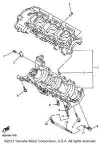 >Crankcase For Vx700