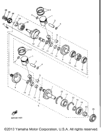 >Crankshaft Piston For Vx600