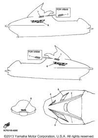 1998 yamaha vmax 600 xt  vx600xtb  brake part shark