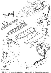 1994 yamaha wave raider  ra700s  oem parts  babbitts