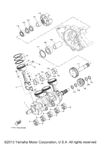 Used Crankshaft For  Yamaha Waverunner Vx Sport